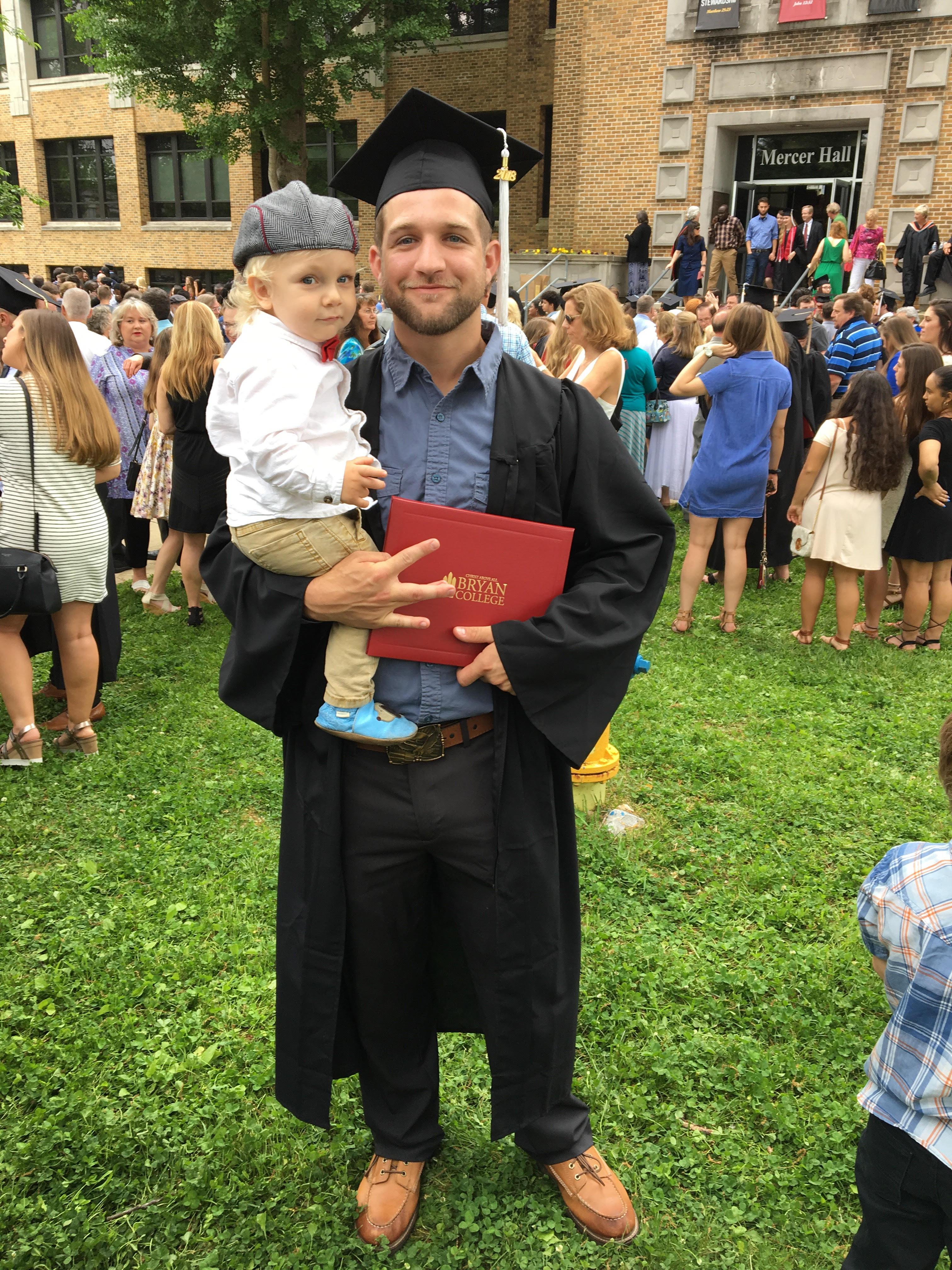 Matt and able at graduation