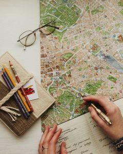 student planning visit